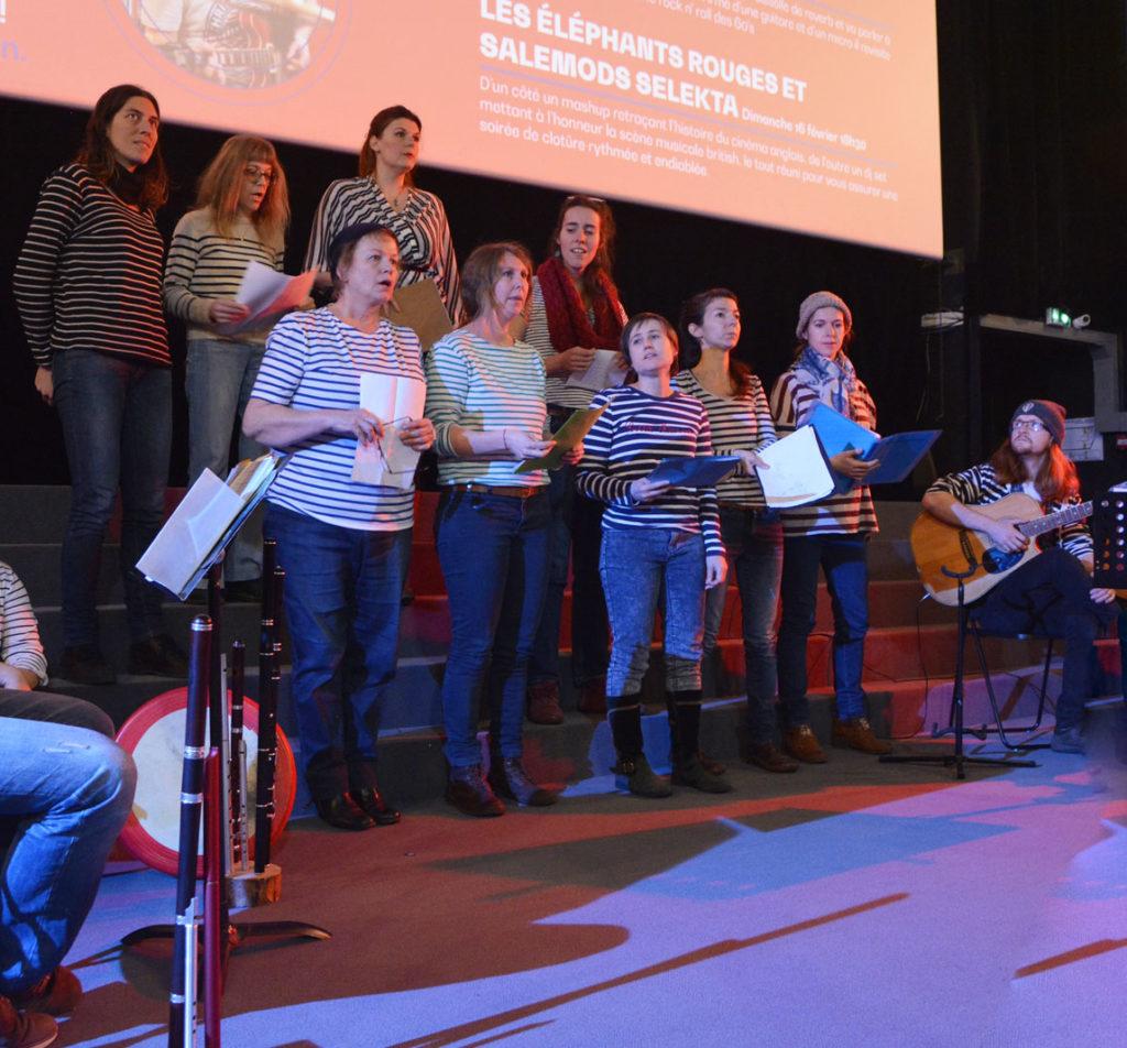 Les Nightingales en concert au festival Ciné O'Clock 2020 ; thème pêche.